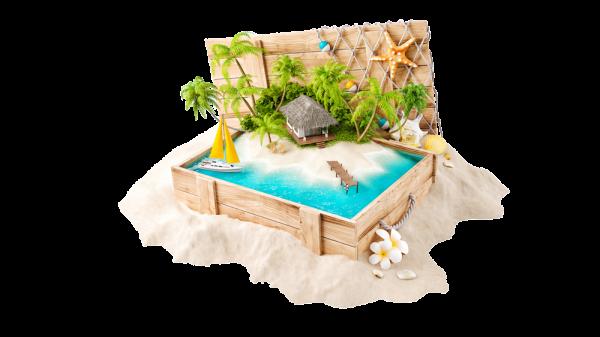 paradise-Island-in-suitcase